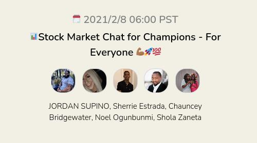 📊Stock Market Chat for Champions - For Everyone 💪🏾🚀💯