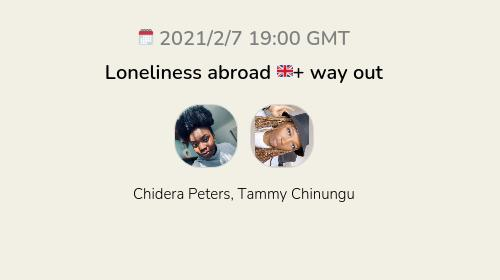 Loneliness abroad 🇬🇧+ way out