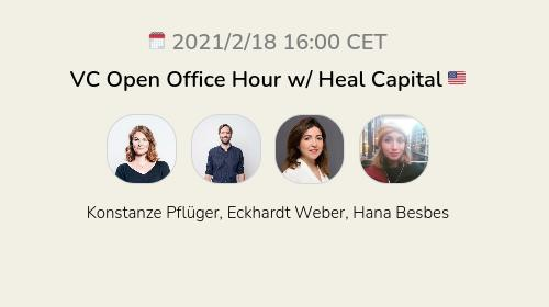 VC Open Office Hour w/ Heal Capital 🇺🇸