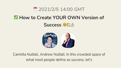 ✅ How to Create YOUR OWN Version of Success 🤑🏡⛵️
