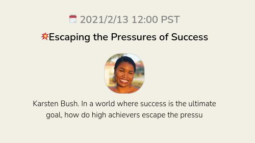 💥Escaping the Pressures of Success