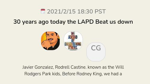 30 years ago today the LAPD Beat us down