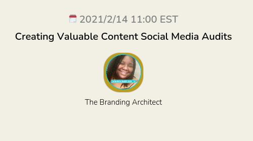Creating Valuable Content Social Media Audits