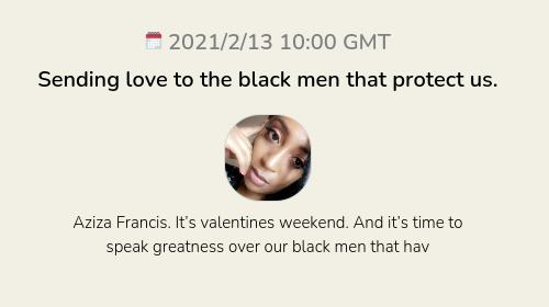 Sending love to the black men that protect us.