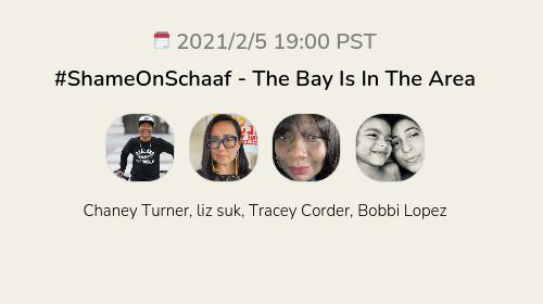 #ShameOnSchaaf  - The Bay Is In The Area