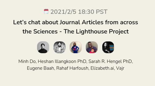 Let's chat about Journal Articles from across the Sciences - The Lighthouse Project