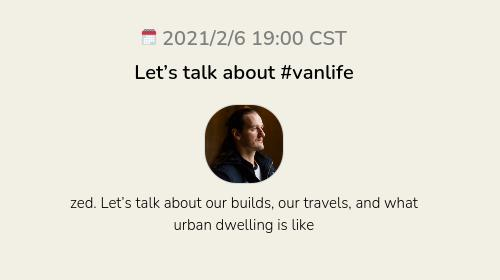 Let's talk about #vanlife