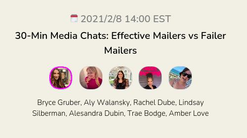30-Min Media Chats: Effective Mailers vs Failer Mailers