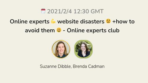 Online experts 💪 website disasters 😫 +how to avoid them 😃 - Online experts club