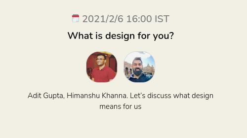 What is design for you?