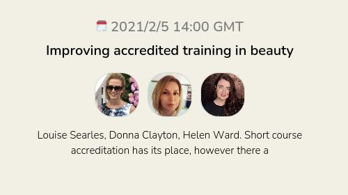 Improving accredited training in beauty