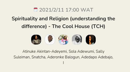 Spirituality and Religion (understanding the difference) - The Cool House (TCH)