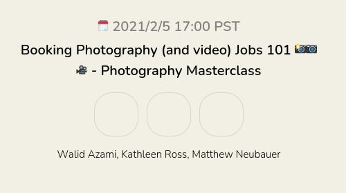 Booking Photography (and video) Jobs 101 📸📷🎥 - Photography Masterclass
