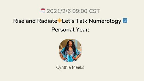 Rise and Radiate☀️Let's Talk Numerology 🔢 Personal Year: