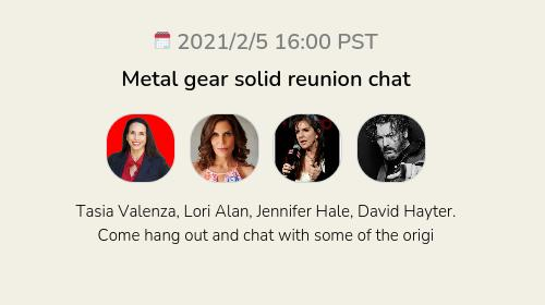 Metal gear solid reunion chat