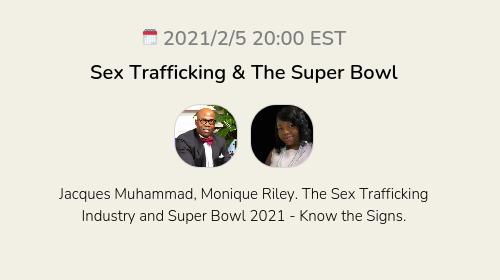 Sex Trafficking & The Super Bowl