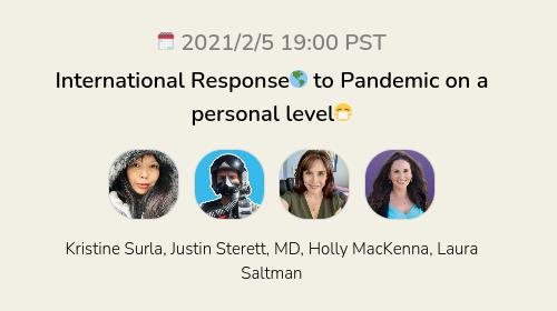 International Response🌎 to Pandemic on a personal level😷
